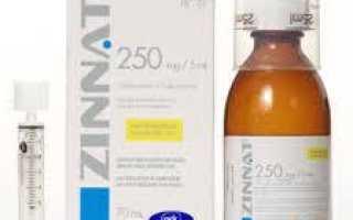 Правила применения препарата Зиннат для детей